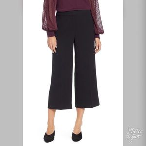 NWT Halogen Women's Black Wide Leg Cropped Pants